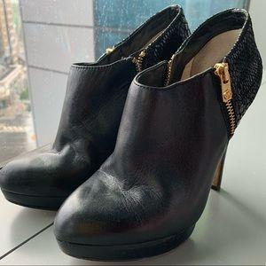 Michael Kors Black Leather High Heel Booties